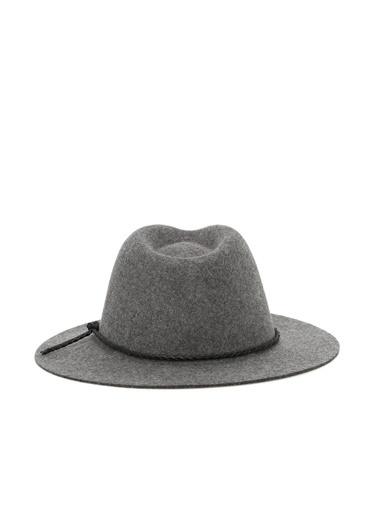 NetWork NetWork 1077591 100% Yün İp Detaylı Fötr Şapka Gri